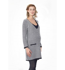 Robe de grossesse tricotée Alaïa