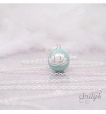 Bola Fleur de Lotus Jade Chaîne Simple
