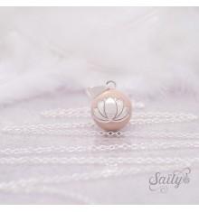 Bola Fleur de Lotus Nude Chaîne Simple