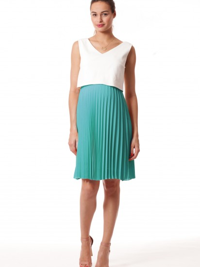 Robe Tiphaine blanche Turquoise