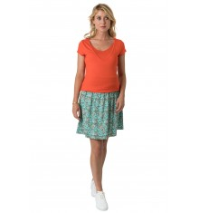 Jupe Emilie Print indienne turquoise