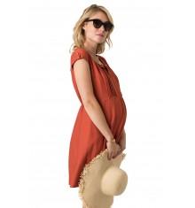 Robe de grossesse Estelle Terracotta