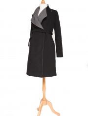 Manteau de grossesse bicolore
